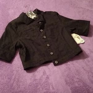 Black jean crop jacket